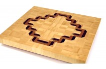 3D end grain cutting board #6
