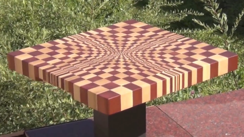 3D end grain cutting board N1