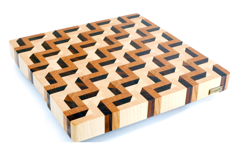 3D end grain cutting board #3
