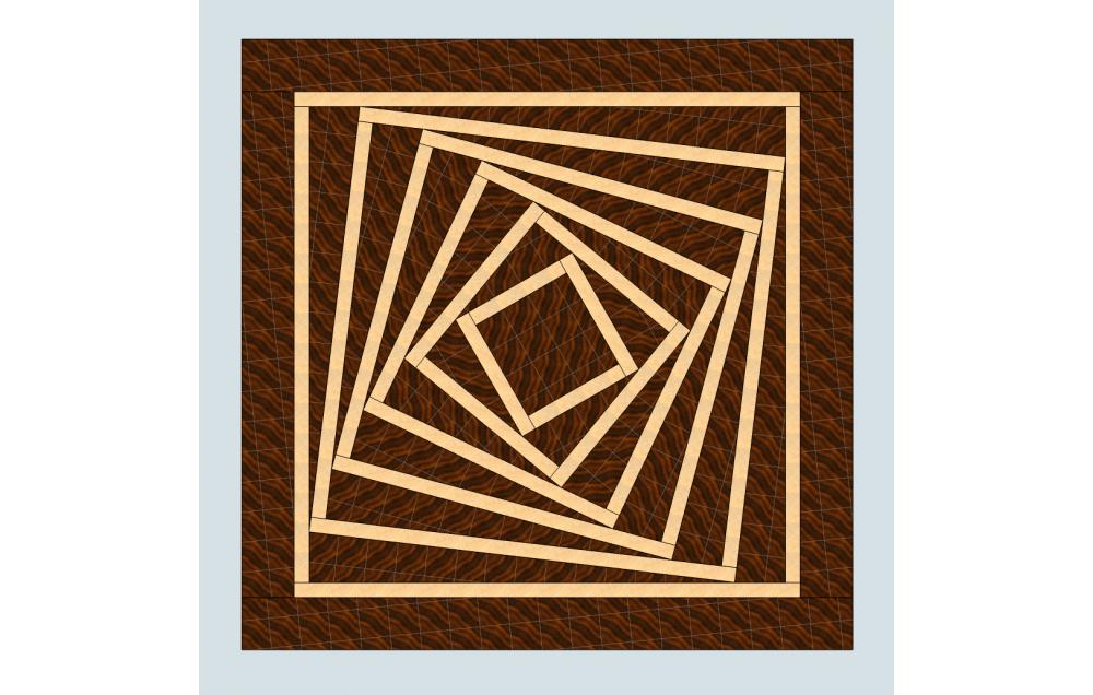 A 3D end grain cutting board #5