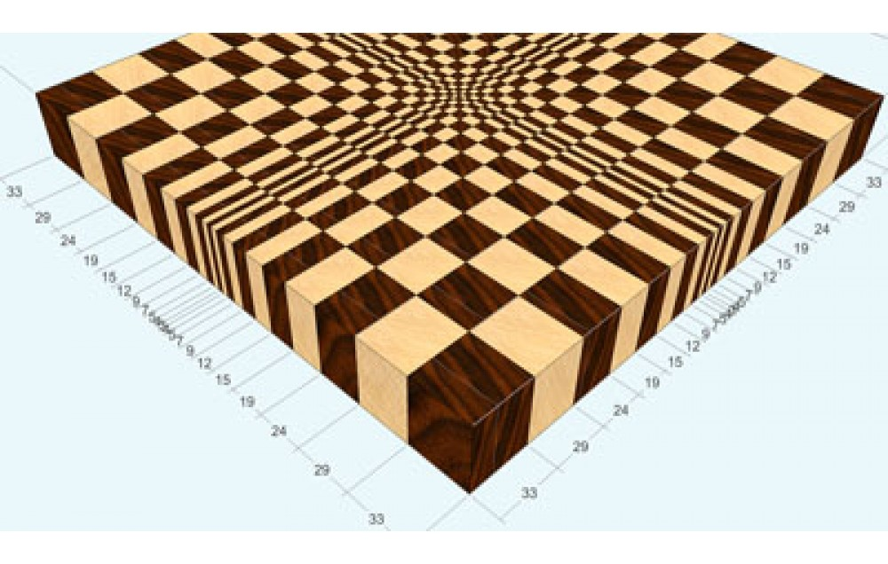 """A 3D END GRAIN CUTTING BOARD #1 FOR 13"""" PLANER"""