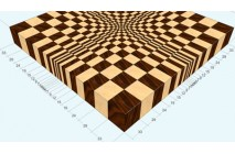 "A 3D END GRAIN CUTTING BOARD #1 FOR 13"" PLANER"