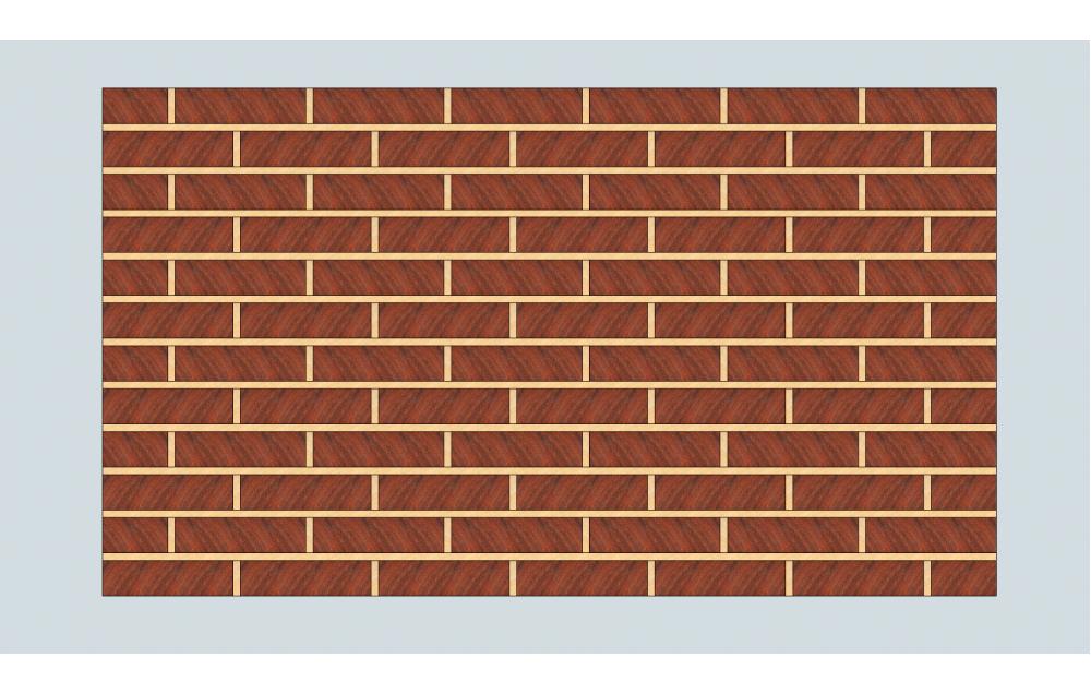 "A ""Brick Wall"" end grain cutting board"