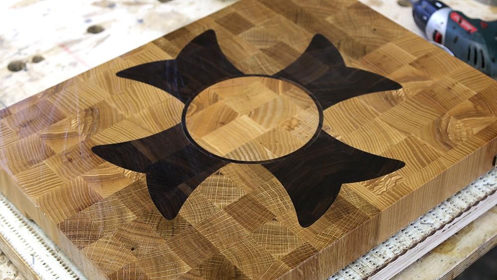 "A ""Flower"" end grain cutting board"