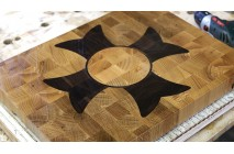"A ""Flower"" end grain cutting board"