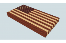 """US flag"" end grain cutting board"