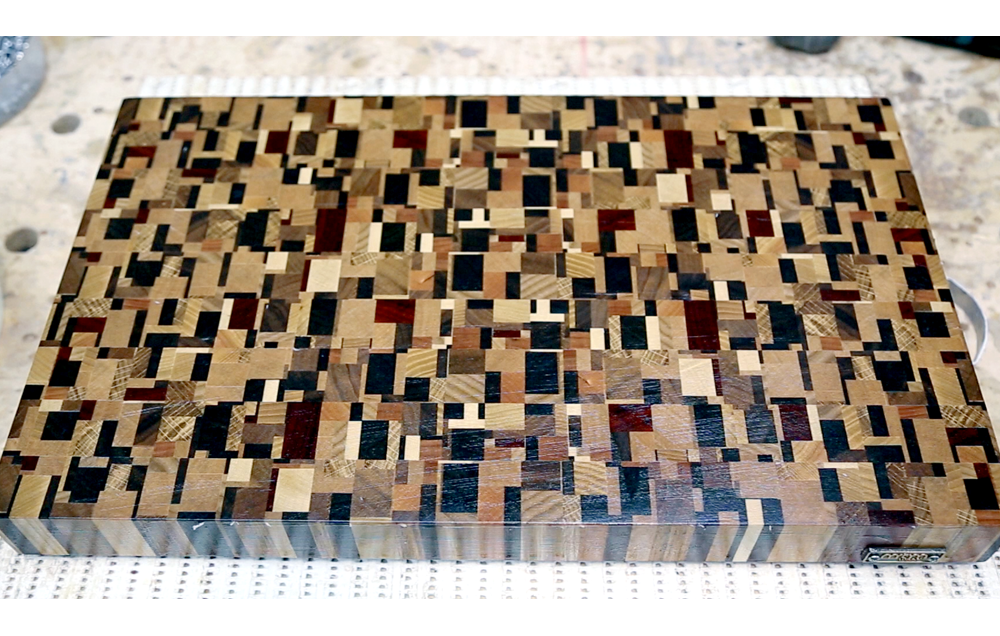 Chaotic pattern end grain cutting board #2
