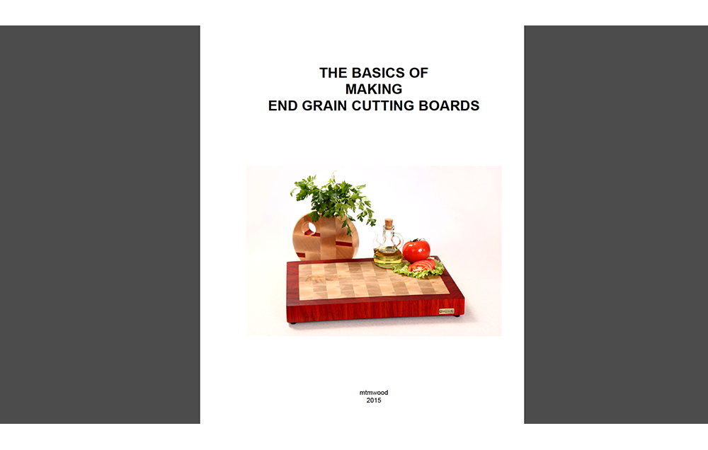 "Tutorial ""The basics of making end grain cutting boards""."