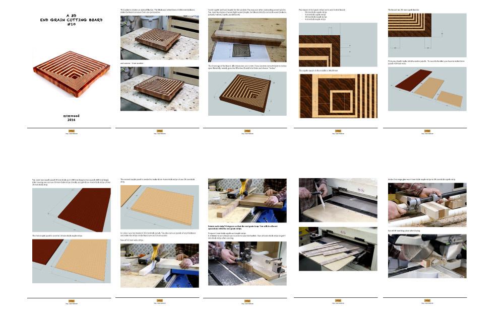 CNC File for 3D end grain cutting board #10