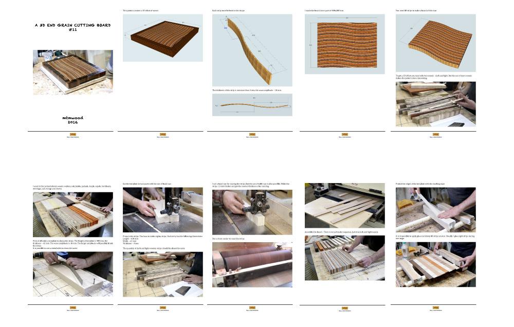 A 3D end grain cutting board #11