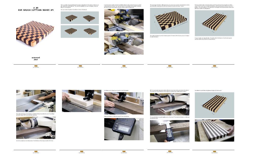 A 3D end grain cutting board #9