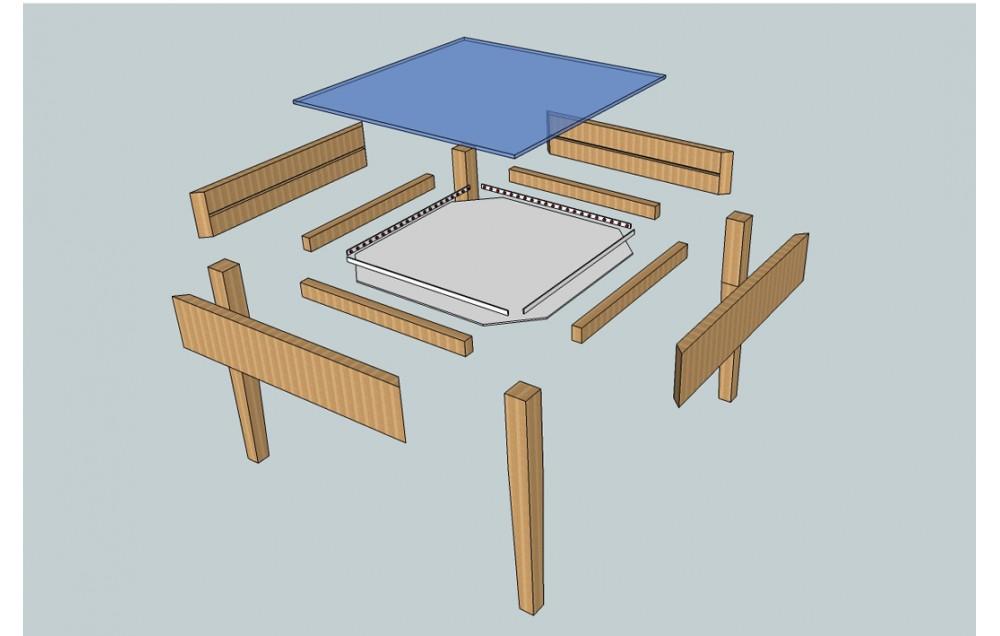 Изготовление детского столика для рисования