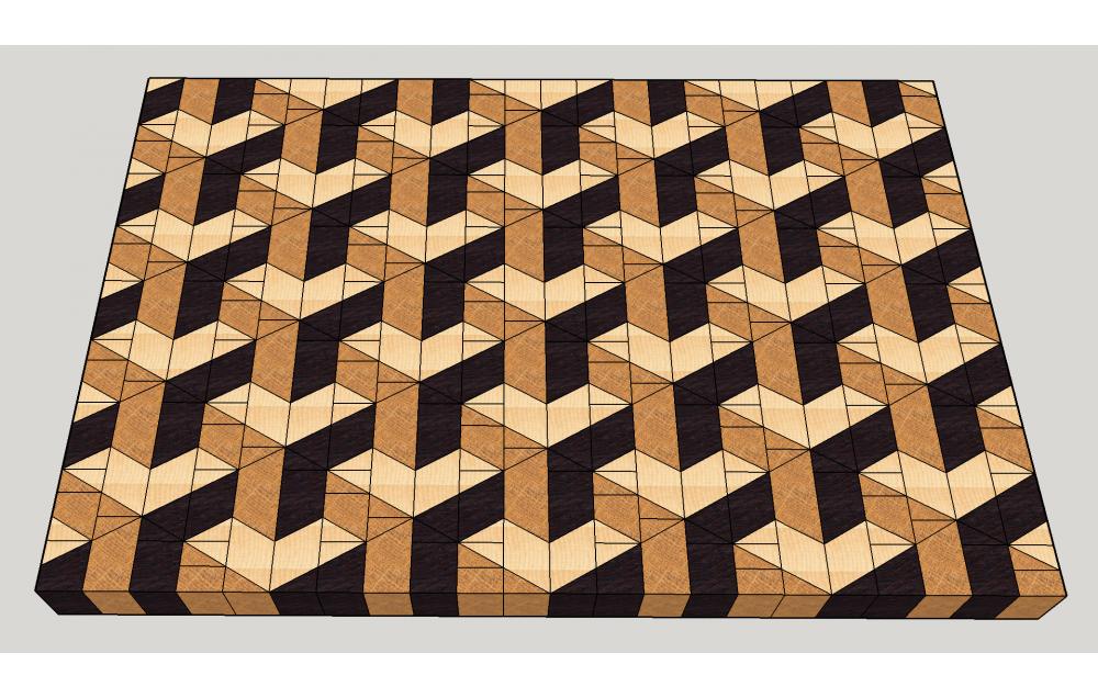 3D end gran cutting board #16