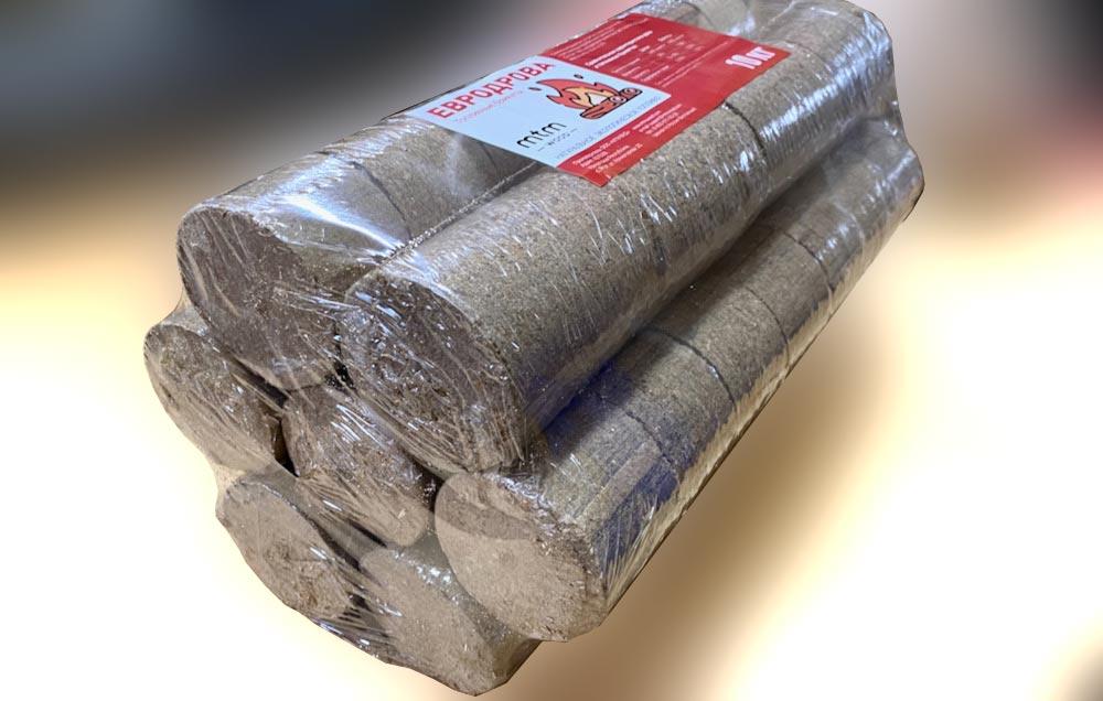 Евродрова (топливные брикеты), 10 кг.