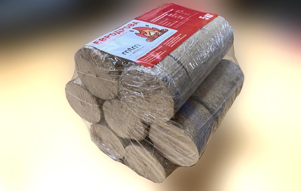Евродрова (топливные брикеты), 5 кг.